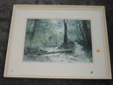 A watercolour, Dorothy Lockwood, The Crossing, signed and attributed verso, 37 x 50cm, framed and