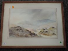 A watercolour, R J Newstead, Autumn in Dunnerdale, signed, attributed verso, 31 x 49cm, framed and