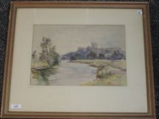 A watercolour, James Herbert Snell, Windsor Castle, signed, 24 x 34cm, framed and glazed