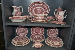 A part dinner service by Masons in the Vista design 36 pieces in total including chargers and tea
