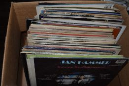 A box full of mixed vinyl LP records,classical, popular songs and easy listening.