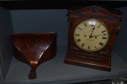 An antique bracket clock of impressive proportions having Gothic design by Irish clock makers Lee of