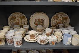 A selection of Royal coronation wares including Wileman and Shelley Queen Victoria and similar