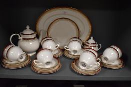 A partial Royal Grafton 'majestic' dinner service comprising of platters, cups and saucers, tea