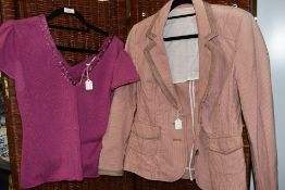 A ladies jacket by Whistles london size 16 and a cashemere whistles top