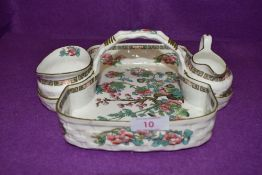 An Alsager Hayward and co ceramic breakfast set having and Indian Tree design