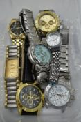 A selection of copy wrist watches bearing names, Rolex, Breitling