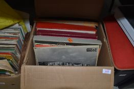A selection of vinyl records mostly classical interest