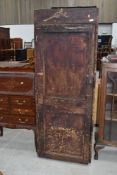 A traditional stained frame rustic tool cabinet, approx. Dimensions approx. W64 H170 D40cm