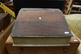 A part stripped table/lap desk, approx width 53cm