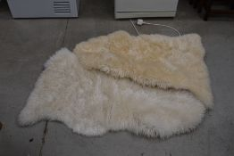 Two Ikea Ludde Sheepskin rugs