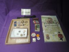 A collection of mainly badges, mixed periods including WW1 RAF Sweatheart, two with Pilots head