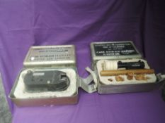 An R Vinten ltd G90 Sighting Camera in original military box (no lens) and G90 Sighting unit also in
