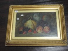 An oil painting, F Chaplin, still life, 29 x 44cm, plus frame and glazed