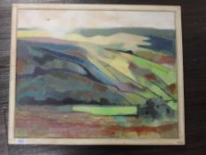 An oil painting, John Fowler, country landscape, 40 x 50cm, framed