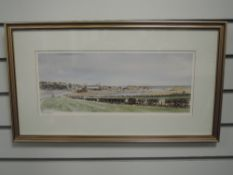 A Ltd Ed print, after Helen Stuart, signed, and num 121/250, 17 x 43cm, plus frame and glazed
