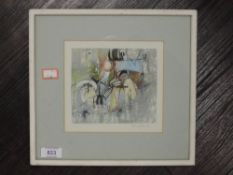 A mixed media pastel and oil painting, attributed to Ernest Pascoe, signed dedicated and