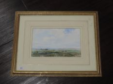 Two watercolours, Gilbert Davies, country landscapes, signed, 20 x 29cm, plus frame and glazed