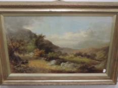 An oil painting, George Goodman, In the Vale of Llangollen, signed and attributed verso, 38 x