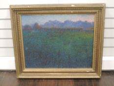 An oil painting, landscape, 54 x 67cm, plus frame