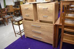 Three modern laminate bedroom drawer sets