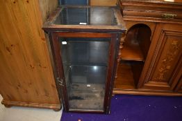 A traditional mahogany and glazed shop display, dimensions approx. W44cm H82cm D38cm