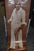 A vintage full length body poster of Marilyn Monroe a John Faber Production Printed in Belgium (some