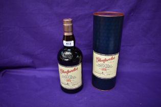 A bottle of Glenfarclas Highland Single Malt Scotch Whisky, aged 25 years, 43 vol, 700ml in card