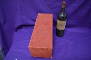 A bottle of Chateau-Margaux 1957 Premier Grand Gru-Classe, in original box