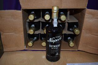 Twelve bottles of Niepoort Senior Fine Old Tawny Port, in original card case