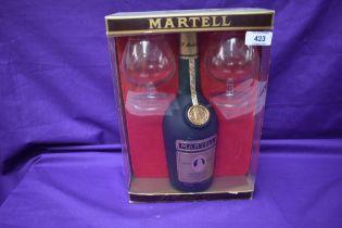 A bottle of Martell VSOP Medallion Liqueur Cognac, 24fl, 68cl, 70% proof, 40% vol with two cognac