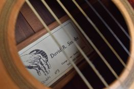 An early 1990s Luthier made acoustic guitar, by David Stubbs, being number 3. David (of Grange