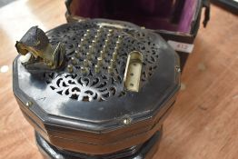 A Lachenal & Co concertina, inscribed `The Edeophone`, Lachenal & Co, London, ebony