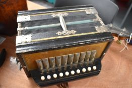 A traditional German melodeon, buttons named Marola