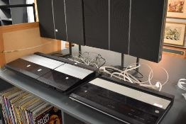 A selection of Bang and Olufsen seperates, comprising BeoCenter 4000, Beogram CDX and pair of RL