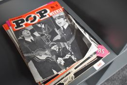 A small collection of 1960s pop magazines