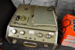 A vintage Ferrograph , Six series , model 631, in self contained case, with lid and original manual
