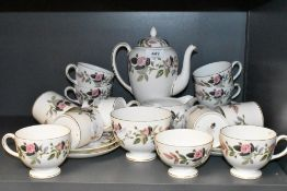A part tea and coffee service by Wedgwood in the Hathaway Rose design