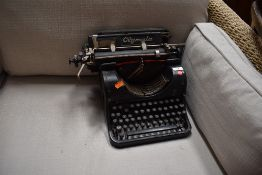 A vintage Olympia typewriter, Model 8
