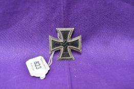 A German WW2 1939 Iron Cross Badge