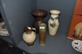 An assortment of studio pottery including German and Scottish.