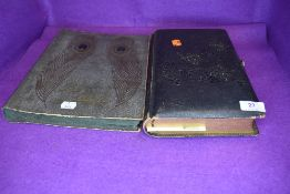 Two antique albums containing a selection of interesting late Victorian and Edwardian photographs of