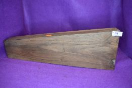 A French Walnut Gun Stock blank, stamped GM in a circle, length 49cm, width 16.5cm and 9cm depth