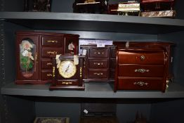 A selection of jewellery boxes.