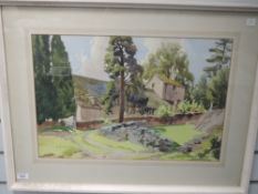 A watercolour, Sydney Buckley, St Antony in the Fell, signed and attributed verso, 35 x 53cm, plus