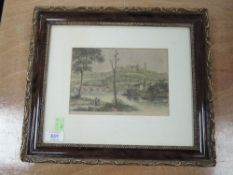 An engraving, Lancaster, 19th century, 13 x 19cm, plus frame and glazed