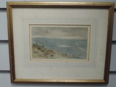 A watercolour, attributed to Herbert Hughes Stanton, Ramsgate, attributed verso, 10 x 17cm, plus
