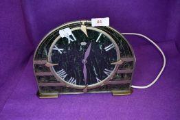 A vintage art deco mantle clock.AF.