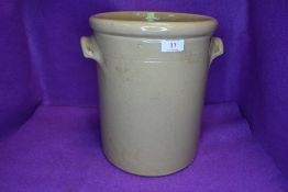 A large Moira stoneware jar.