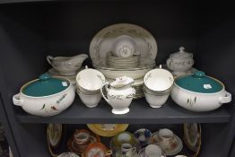 Two Denby tureens and a good amount of Royal Doulton 'Spring zephyr', plates,cups,bowls and more